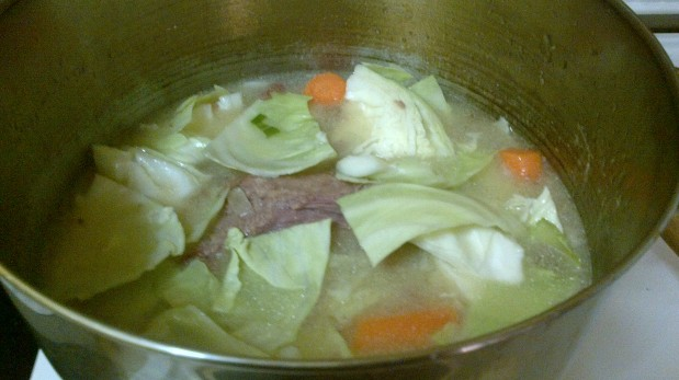 Scorned Beef With Cabbage Carrots And Potatoes